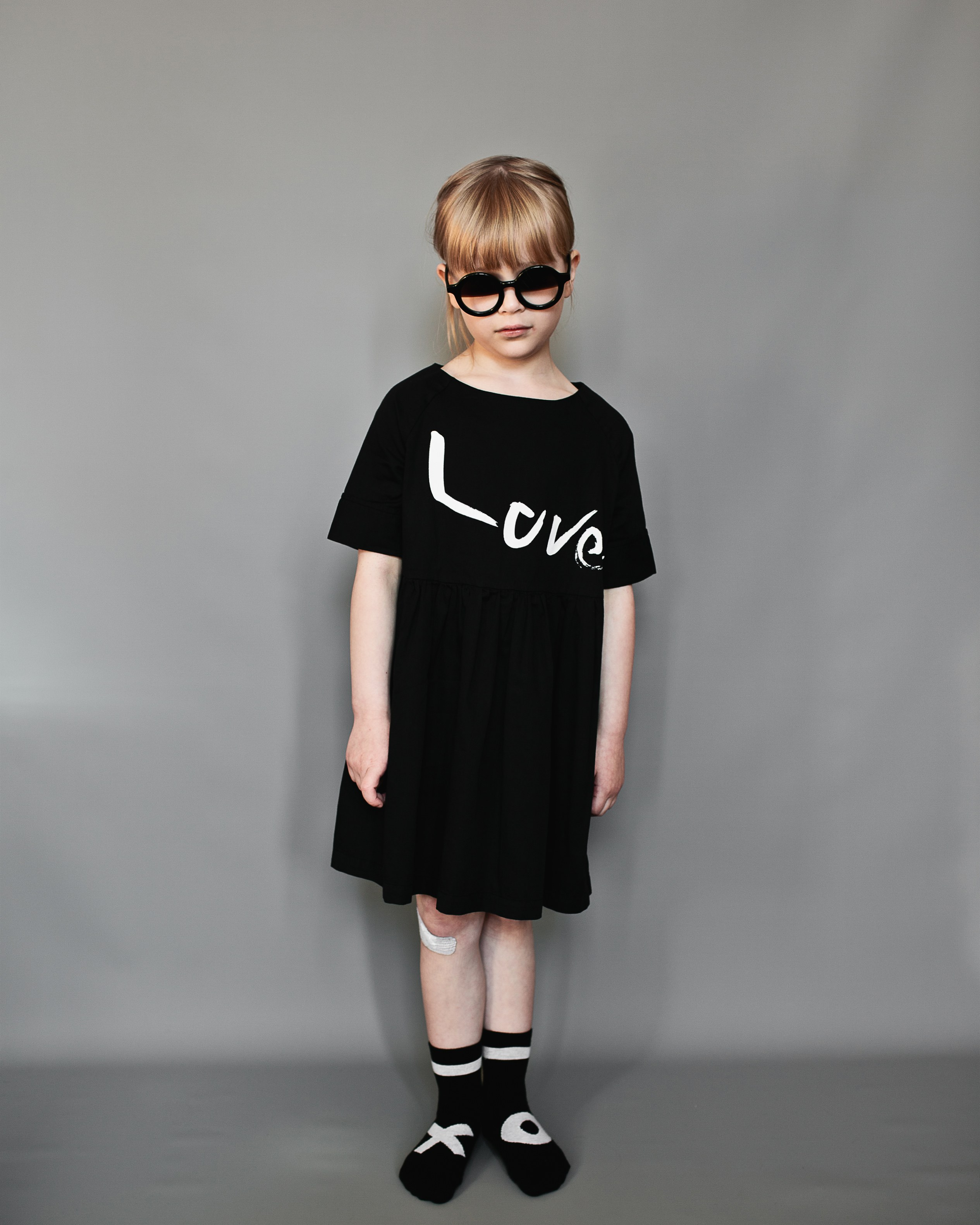 BL Love Dress, Inky Black, Love